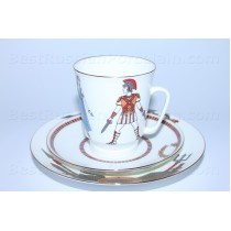 Trio set: cup, saucer and dessert plate pic. Ballet Spartacus, Form May