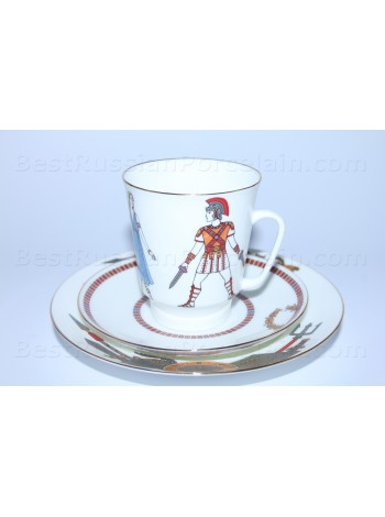 Trio set: cup, saucer and dessert plate pic. Spartacus, Form May