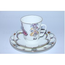 Trio set: cup, saucer and dessert plate pic. Ballet Sleeping Beauty, Form May