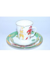 Trio set: cup, saucer and dessert plate pic. Ballet Cipollino, Form May