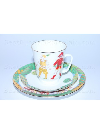 Trio set: cup, saucer and dessert plate pic. Cipollino, Form May