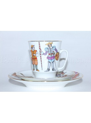 Trio set: cup, saucer and dessert plate pic. Don Quixot Ballet, Form May
