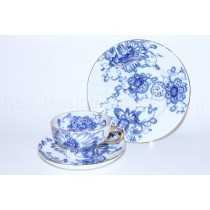 Trio set: tea cup, saucer and dessert plate pic. Singing Garden, Form Tent