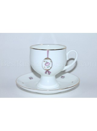 Cup and Saucer pic. Easter (Pink Flower) Form Classical-2