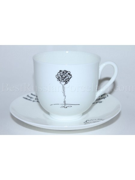 Cup and Saucer pic. Little Prince - Rose, Form Lily of the valley