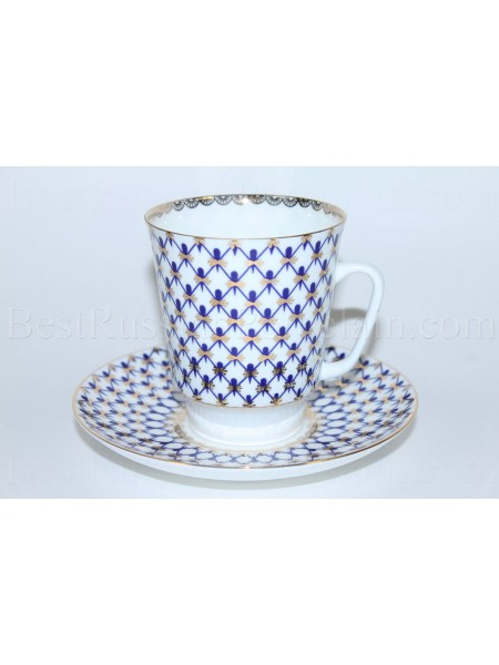 Cup and Saucer pic. Cobalt Net Form May
