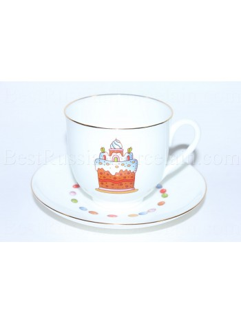 Cup and Saucer pic. Easter Сake, Form Lily of the valley