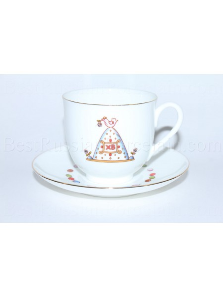 Cup and Saucer pic. Easter Сake 1, Form Lily of the valley
