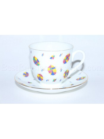 Cup and Saucer pic. Easter / Paschal, Form Lily of the valley