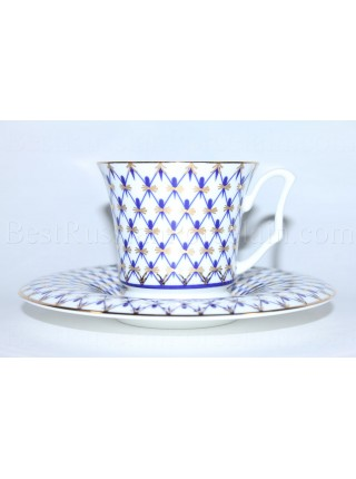 Cup and Saucer pic. Cobalt Net Form Yulia