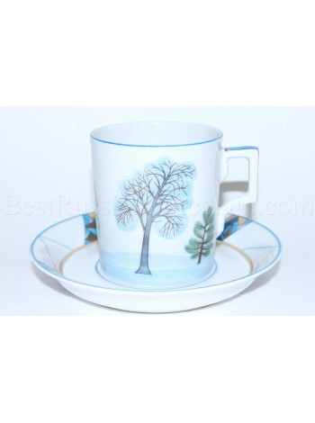 Cup and Saucer pic. Winter, Form Heraldic