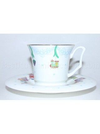 Cup and Saucer pic. Christmas Tree Form Yulia