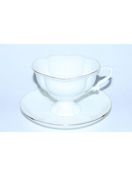 Cup and saucer pic. Golden ribbon, Form Natasha