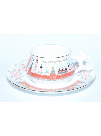 Cup and Saucer pic. Moscow Kremlin Form Bilibin