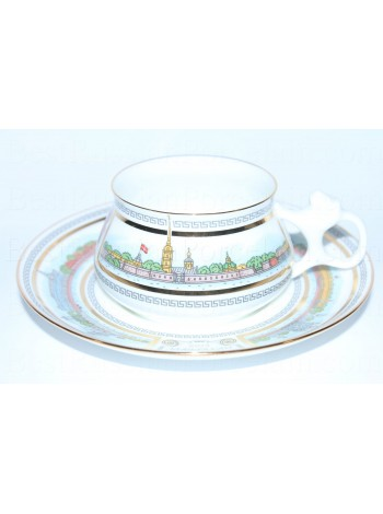 Cup and Saucer pic. Nevskie Shores Form Bilibin