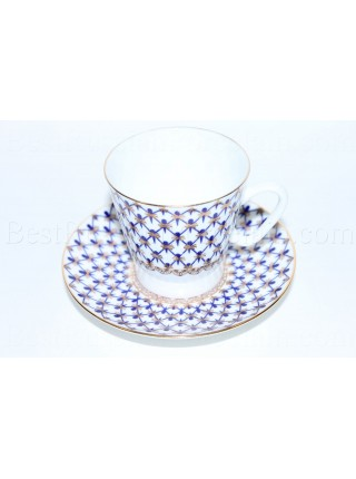 Cup and Saucer pic. Cobalt Net Form Black Coffee