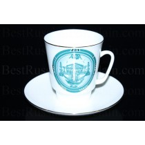 Cup and Saucer pic. Views Of St. Petersburg, Form May