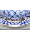 Cup and saucer pic. Cobalt Net, Form Tulip