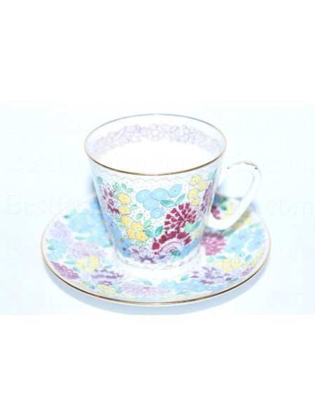 Cup and Saucer pic. Spring Flowers, Form Black Coffee