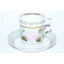 Cup and Saucer pic. Nephrite Background 1, Form Heraldic