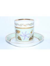 Cup and Saucer pic. Nephrite Background 2, Form Heraldic