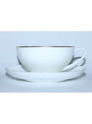 Cup and saucer pic. Golden ribbon, Form Dome