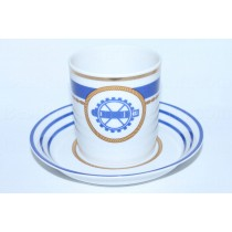 Cup and saucer pic. Wardroom 2, Marine Torpedoman, Form Heraldic