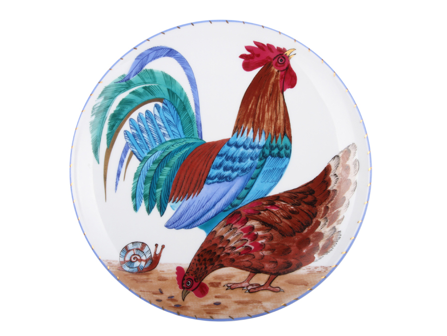 Decorative Plate pic. Rooster and Hen Form Ellipse  sc 1 st  Best Russian Porcelain & Buy Decorative plate pic. Rooster and Hen | BestRussianPorcelain.com