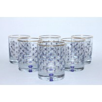 Set 6 Glasses for Whiskey pic. Cobalt Net