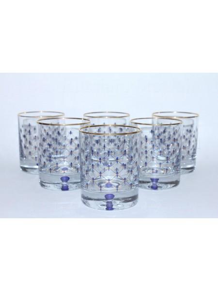 Set 6 Glasses for Whiskey pic. Cobalt Net