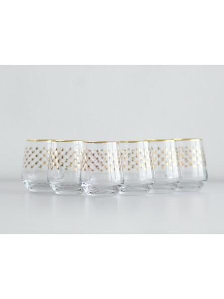 Set 6 Glasses for Whiskey pic. Golden Net