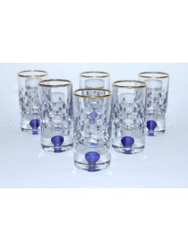 Set 6 Glasses / Shot for Vodka pic. Cobalt Net