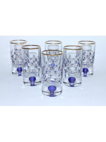 Set 6 Glasses for Vodka pic. Cobalt Net