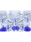Set 6 Glasses for Water pic. Cobalt Net