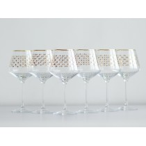 Set 6 Glasses for Water pic. Golden Net
