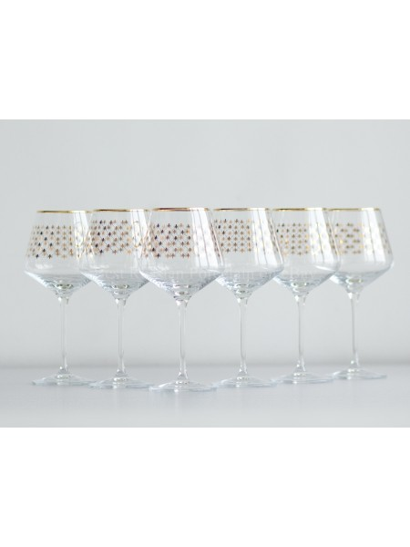 Set 6 Glasses for Water pic. Golden Net