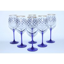 Set 6 Glasses for Wine pic. Cobalt Net