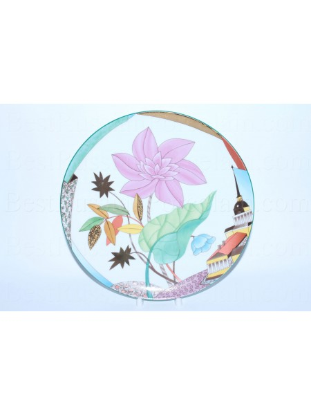 Decorative Plate pic. Blooming City, Form Ellipse