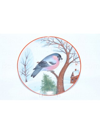 Decorative Plate pic. Bullfinch, Form Ellipse