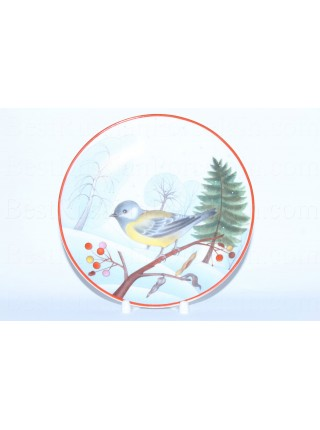 Decorative Plate pic. Titmouse, Form Ellipse