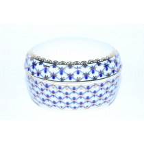 Jewellery Box pic. Cobalt Net, Form Oval