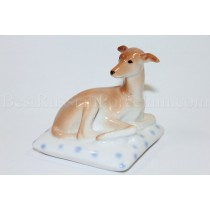 Sculpture Dog Italian Greyhound on pillow Mimmi