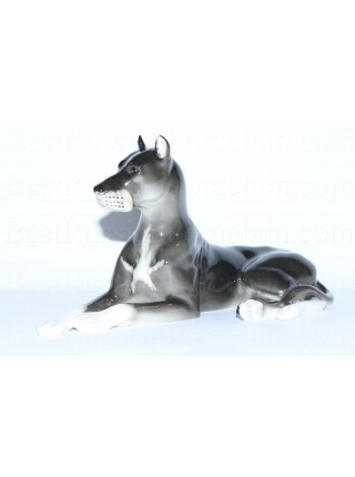 Sculpture Dog Black Mastiff