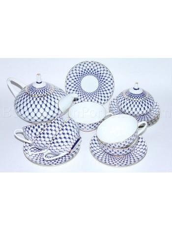 Tea Set pic. Cobalt Net 6/14, Form Dome