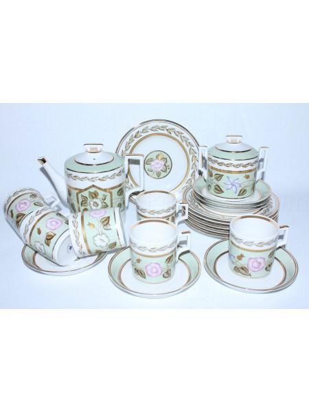 Tea Set pic. Nephrite Background 6/20, Form Heraldic