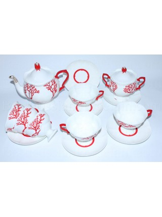 Tea Set pic. Coral 6/14, Form Natasha