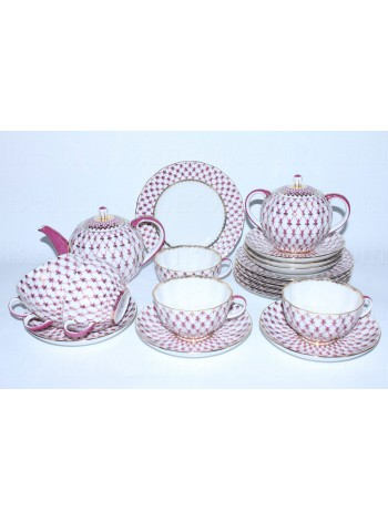 Tea Set pic. Net Blues 6/20 Form Tulip