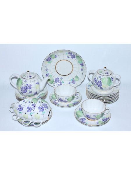 Tea Set pic. Forest Violet 6/21, Form Tulip