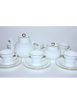 Tea Set pic. Golden Edge 6/20 Form Wave