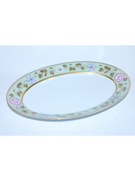 Big Oval Dish pic. Nephrite Background, Form European